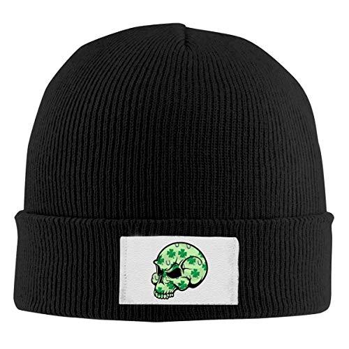 XCNGG Unisex Beanie Cap, Shamrock Skull Knitted Hedging Warme einfarbige Klassische Mütze für den täglichen Winter im Freien