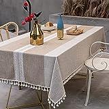 sans_marque Mantel de mesa, cubierta de mantel lavable, utilizado para comedor de cocina, decoración de mesa de cocina 140* 200cm