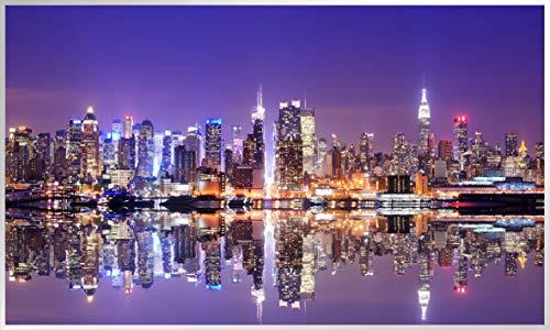 Könighaus Infraroodverwarming met foto en TÜV/GS-keurmerk 200+ afbeeldingen, optioneel met thermostaat/smart thermostaat, wattage: 300/450/600/800/1000 154. New York Skyline Kleurrijk