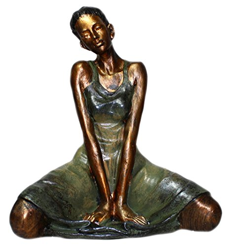 Budawi® - Dekofigur Yoga Figur Frau bei Gymnastik. 22 x 16 cm aus Kunstharz Skulptur Yoga Figur