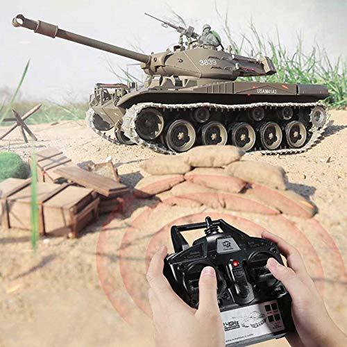 DDT 1/16 Fernbedienung Panzer Panzerwagen Militärkrieg RC Tank Mit Rauch Und Soundeffekt UND Laufrückstoß UND BB-Schießen 2,4 Ghz Emulational Panzerspielzeug