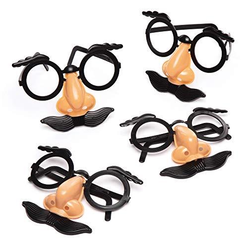 """Baker Ross Maskenbrillen """"Lustige Gesichter"""" (8 Stück) – lustige Maskenbrillen mit Schnurrbart für Kinder"""