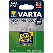 VARTA 5703301402 Akku (HR03 Micro AAA Professional, 1000mAh) 2er-Packung