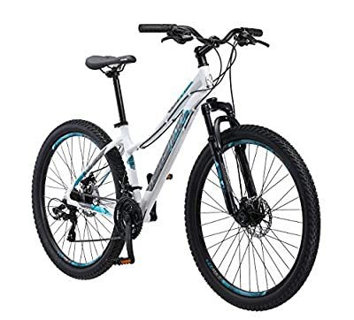 "Schwinn 27.5"" Aluminum Comp Women's Mountain Bike, White"