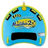 Swonder Malibu2 1-2 Rider   1-3 Rider Towable Tube, Aqua/Lemon (1-2 Rider)