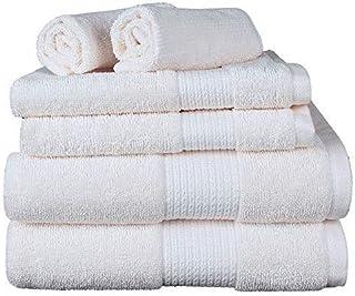 Kensington Home Zulily - Aertex Towel - 6 PC Set (2 Bath+2 Hand+2 Wash) 1376 GMS 520&500 GSM (Egg Shell)