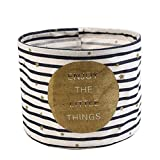Fablcrew Caja de Almacenamiento Redonda de Lona para Escritorio, para Guardar lápices, joyería, cosméticos y Productos de papelería, algodón, Lino,19 * 15cm