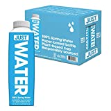 JUST Water, Premium Pure Still Spring Water in an Eco-Friendly BPA Free Plant-Based Bottle - Naturally Alkaline, High 8.0 pH - Fully Recyclable Boxed Water Carton, 16.9 Fl Oz (Pack of 12)