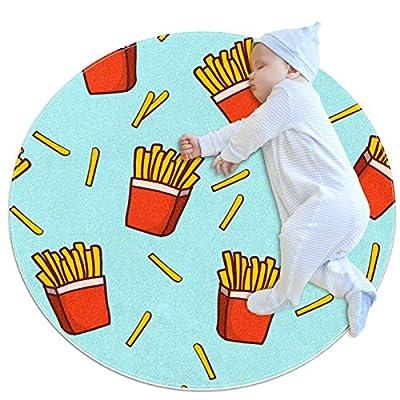 HDFGD Tapis lavable pour chambre de fille ou enfant - Pour chambre d'adolescent - Fast Food - Frites et frites de pommes de terre