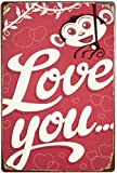 ZJLVMF Love You.Tin Signs Retro Wall Decor Vintage Bar Home Coffee Kitchen Garage Signs 12 X 8 Inches