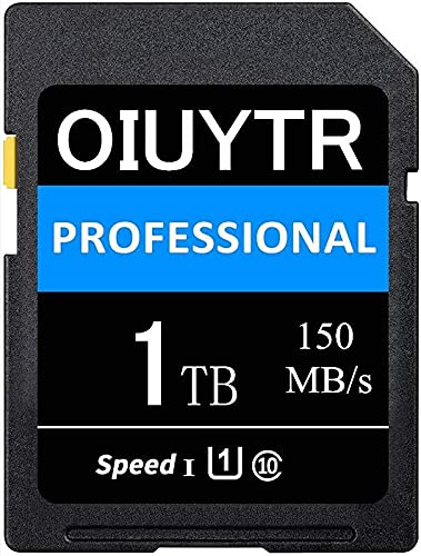 High Compatible SD Memory Card UHS-I 1024GB 1TB SDXC Card Max 150MB/S Speed,C10,U1,4K UHD,for Vloggers, Filmmakers & Fotografers (1024GB)