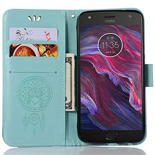 Capa flip para Moto X4, capa carteira para Moto X4, capa de couro para Moto X4, capa flip floral em couro PU com suporte para cartão de crédito para Motorola Moto X4 de 5,2 polegadas
