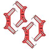 Morsetto ad angolo retto a 90 gradi, 4 pezzi di tenditore angolare in legno e metallo per saldatura telaio quadri, set di morsetti angolari