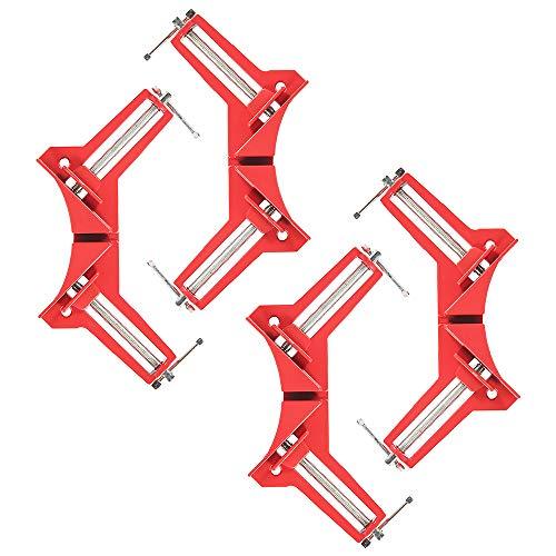 90 Grad Rechts Winkel Klemme, 4 Pcs Winkelspanner Holz Metall SchweißEn Rahmenspanner Bilderrahmen, Schraubzwinge Set Ecke Klemme Gehrungszwinge