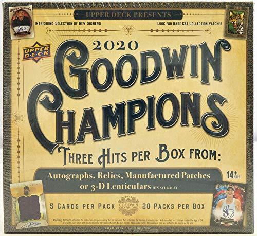 2020 Upper Deck Goodwin Champions Hobby Box - Factory Sealed (3 Hits/Box)