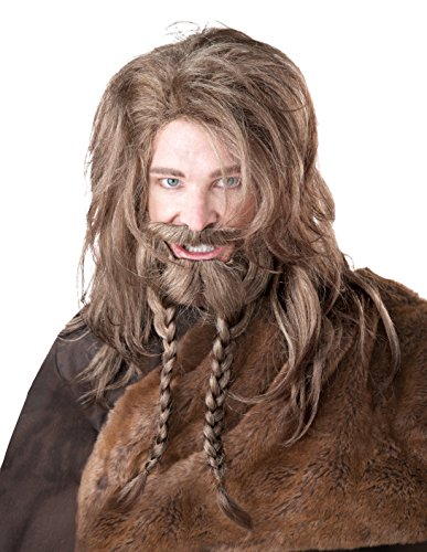California Costume - Pe876 - Set perruque viking, barbe, tresses et moustache