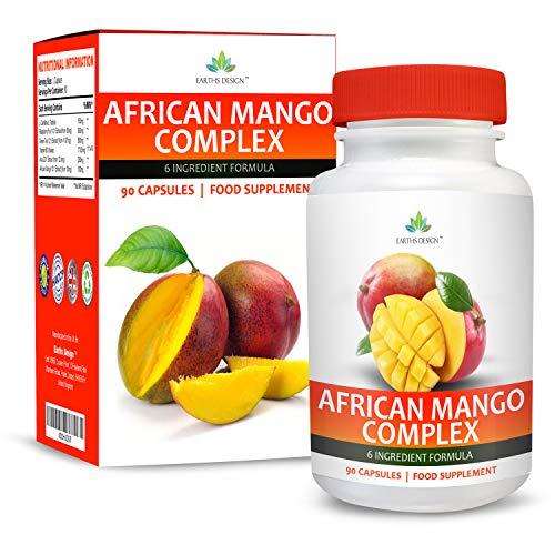 Afrikanische Mango Komplex - 1000mg Mit Himbeer Ketonen, Capsicum, Grüne Kaffeebohne & Glucomannan - Maximal Potentes Nahrungsergänzungsmittel für Männer & Frauen - 90 Kapseln (3 Monate Vorrat) von Earths Design