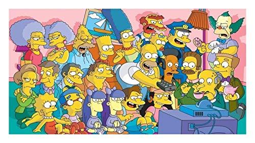 Puzzles Rompecabezas de rompecabezas   a todo color Los simpson viendo la televisión   Papel de niños Jigsaws Juguetes educativos Adultos adolescentes Jigsaw Puzzle, 300 6000 Piezas ( Size : 5000P )