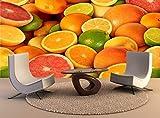 Fototapete Tapete Wanddeko Home Decor 3D Zitrusfrüchte Self-Adhesive Tv Hintergrundbild Schlafzimmer Küche Wandbilder, 400Cmx280Cm