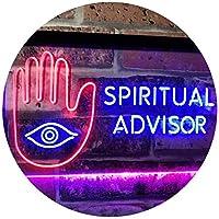 Spiritual Advisor Eye Dual Color LED看板 ネオンプレート サイン 標識 青色 + 赤色 600 x 400mm st6s64-i3116-br