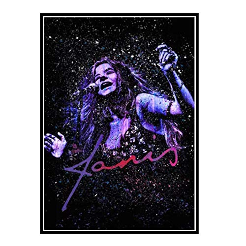 GUICAI Janis Joplin - Schizzi di Vernice - Quadro su Tela Poster Immagine Sfondo Decorazione murale Decorazione Soggiorno casa -50X70 cm Senza Cornice 1 Pz