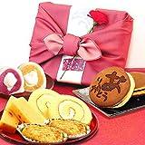母の日 の プレゼント おいもやどら焼き ギフトセット 母の日ギフト ギフトセット(ピンク色風呂敷包)