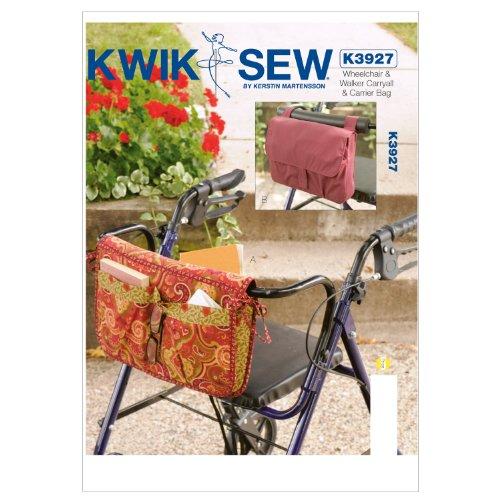 Kwik Sew Patroon K3927 rolstoel en Walker vistas en tas, wit, 1 stuk