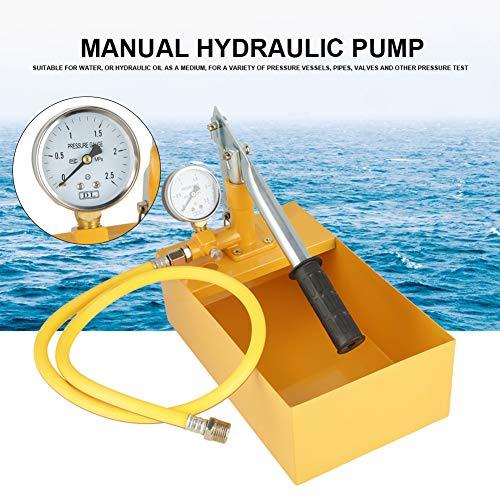 2.5Mpa 25KG Abdrückpumpe,manuelles hydraulisches Wasserdruck Test Pumpen Rohr Tester Werkzeug Druckprüfpumpe Befüllpumpe