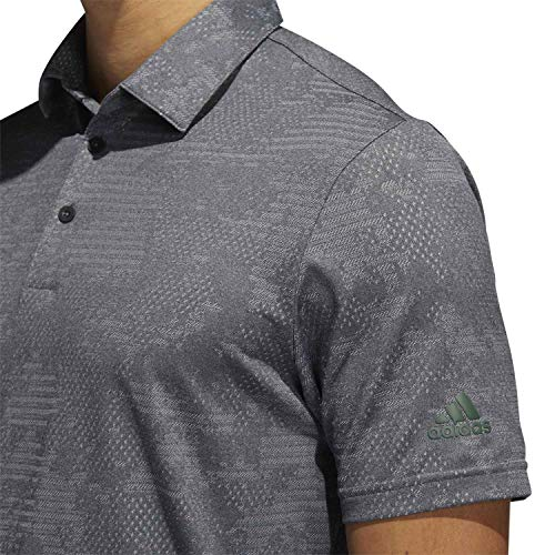 adidas Golf Mens Camo Polo Shirt - Black/Grey Three - XL