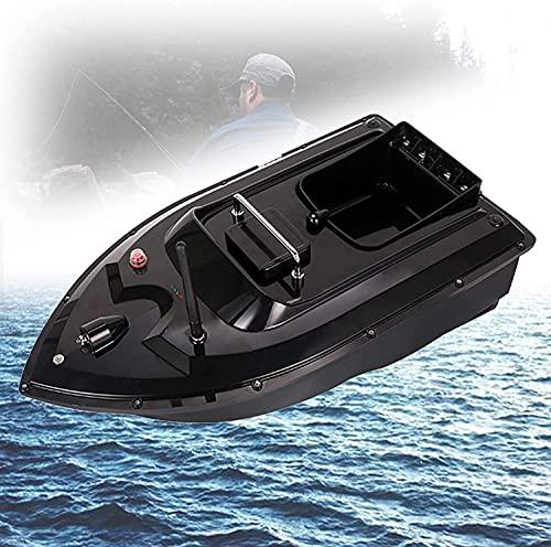 WXFCAS Barco de pesca inteligente de 500 m RC, bote de cebo de control con una mano, buscador de pesca en barco, casco anti-colisión, motor doble de alta velocidad, 1.5 kg de carga todo tipo de cebo d