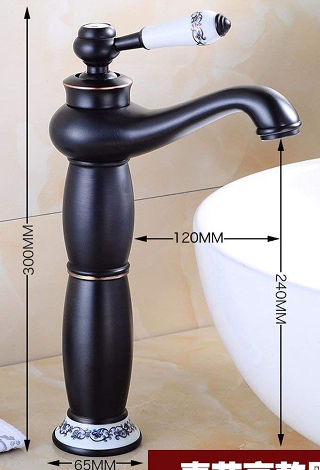 Ywqwdae Europe And The United States Retro Stylell Coppered And Cold Single Handle Single Hole Sink Faucet