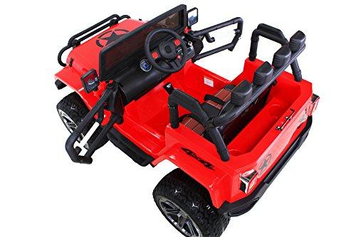 RC Auto kaufen Kinderauto Bild 4: Actionbikes Motors Kinder Elektroauto Wrangler Offroad Jeep ALLRAD 2-Sitzer 4 x 35Watt 2x10AH Batterie Eva Reifen 4x4 (Rot)*