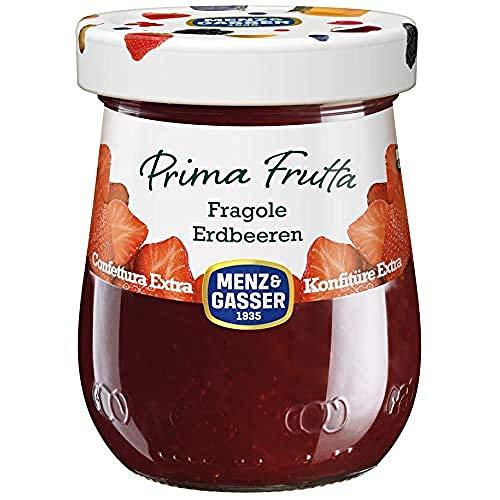 Menz&Gasser Confettura Extra di Fragole Prima Frutta - Confettura con Frutta di Alta Qualità, 1 Vaso x 340 g