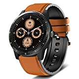 MorePro Smart Watch 20 Sport Modes Fitness Tracker Health Watch Body Temperature, Activity Tracker with Heart Rate Blood Pressure Sleep Monitor, IP68 Waterproof Smartwatch for Women Men(Brown)