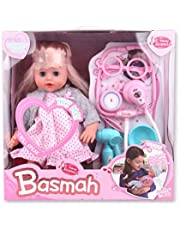 Basmah Baby Doll for Girls,32-69004E-GREY