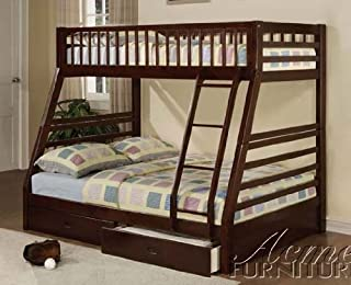 Jason Espresso Twin Over Full Bunk Bed with Drawers