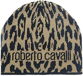 f781019960c53 Roberto Cavalli ESZ026 03506 Camel Jaguar Beanie Hat for mens