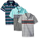 Simple Joys by Carter's Baby Boys' Toddler 3-Pack Short Sleeve Polo, Stripes, 2T