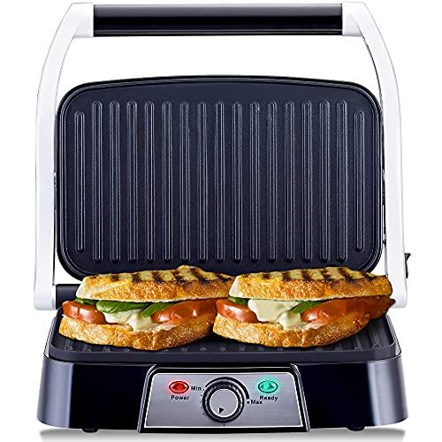 NETTA Panini Maker & Health Grill - Sandwich Toaster, Panini Press - 2...