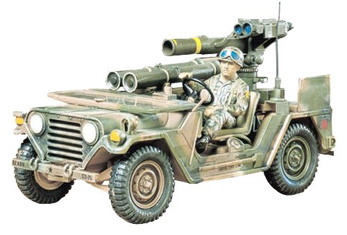 タミヤ 1/35 ミリタリーミニチュアシリーズ No.125 アメリカ陸軍 M151A2 トウミサイルランチャー搭載 プラ...