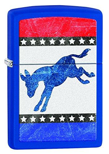 Zippo Democratic Donkey Pocket Lighter Royal Blue Matte