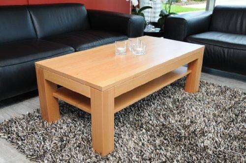 Holz-Projekt-Summer Couchtisch-Tisch 90x60cm H:42cm Zarge bündig mit Ablage Buche/auch auf Maß/Echtholz Massivholz/