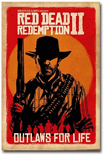 póster red dead redemption 2 fabricante YTYTOO