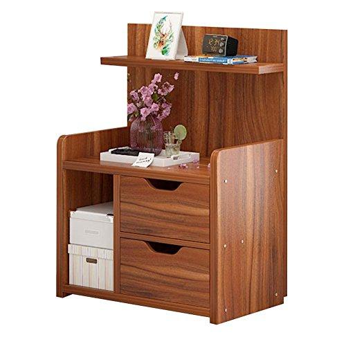Table de chevet JCOCO avec Panneaux à Base de Bois tiroirs de Rangement, Chambre Casier de Chevet Boîte de Rangement (Couleur : #2, Taille : 43 * 27 * 60cm)