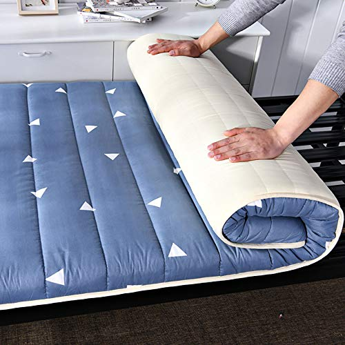 Nobuddy Materasso Letto Futon Matrimoniale e Singolo Pieghevole e Arrotolabile,Tatami Materassino Morbido Materassino,Giapponese Dormire Mat Bed Ground/B / 120x190cm