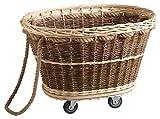 AUBRY GASPARD - Carro para leña con ruedas de mimbre en bruto