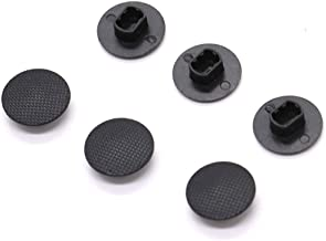 HUELE 6 Pack Black Analog Joystick Stick Cap Cover Button for Sony PSP 1000