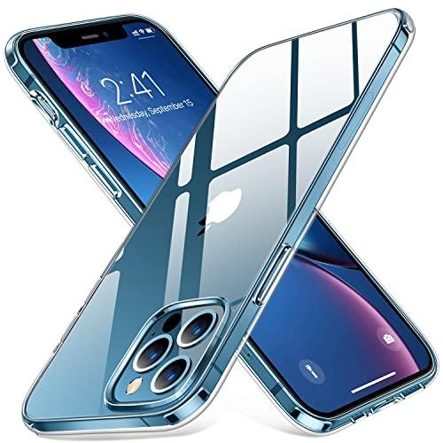 Humixx Crystal Clear für iPhone 12 Pro Max Hülle[13X Anti Gelb] [Stoßfest in Militärqualität] Kratzfest Unterstützt kabelloses Laden & TPU-Silikonkantenstoßfänger mit Airbag-Schutzhülle 6,7 Zoll