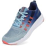 DANNTO Zapatillas de Deporte Hombre Mujer Running Zapatos para Correr Gimnasio Sneaker Deportivas Padel Transpirables Casual Calzado Unisex Azul A 37