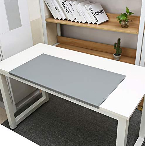 SK Studio Schreibtischunterlage mit Kantenschutz Wasserdichte PU Leder, Rutschfeste mit Kantenverriegelung Mausunterlage für Computertastatur, PC und Laptop Grau 60x30cm